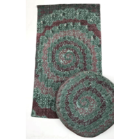 Kleed Katoen Blokprint Motief Cirkel Multi Groen