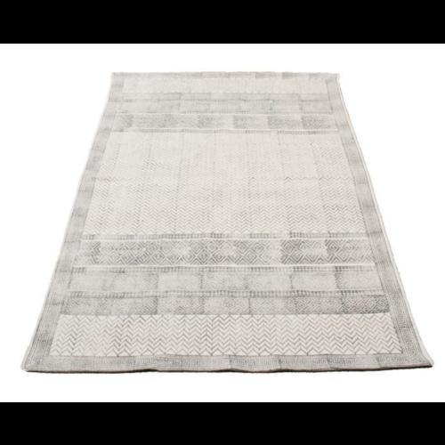 Vloerkleed Grafisch Print - grijs in 2 maten