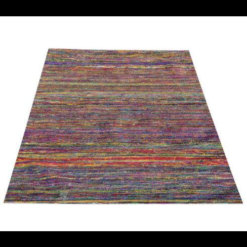Vloerkleed recycled zijde - kleurrijk 160x230cm