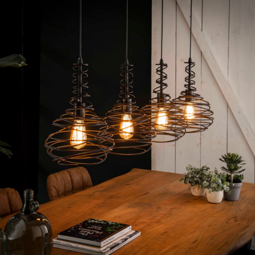 Hanglamp Levy in 2 uitvoeringen + led gloeilampen cadeau