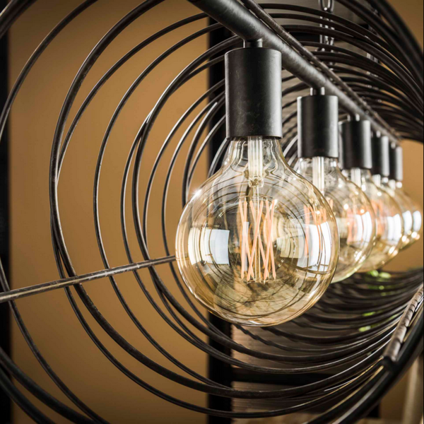 Hanglamp Gibson + 5 led lampen cadeau