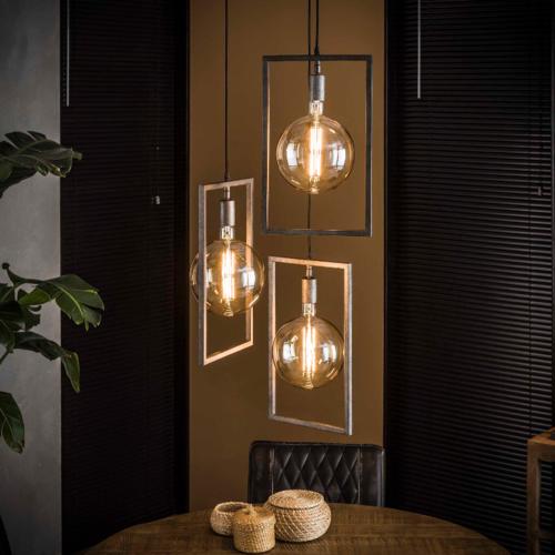 Hanglamp Dalton getrapt + 3 led lampen cadeau