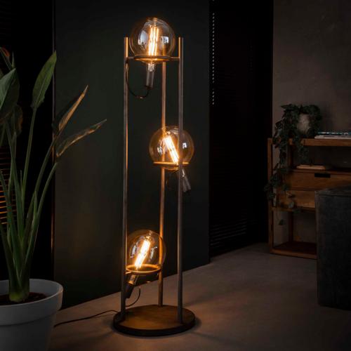 Vloerlamp Karson + 3 led lampen 20cm diameter