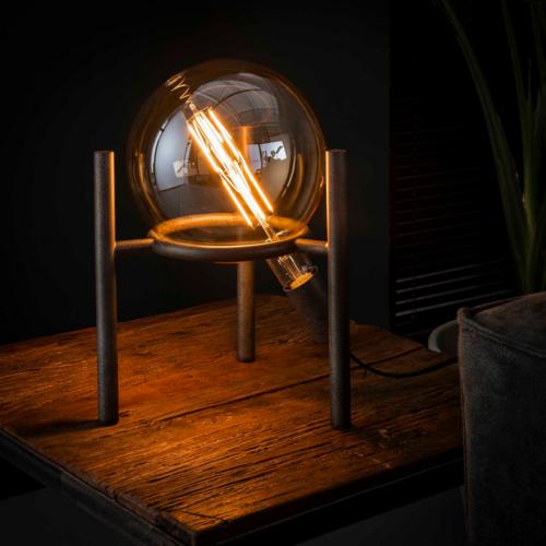 Tafellamp Karson laag + led lamp 20cm diameter