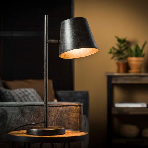 Tafellamp 1L verstelbare metalen kap + led gloeilamp cadeau