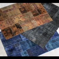 Vloerkleed Tebrisi donkerblauw