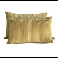 Kussen Velours met Gouden stiksel 60x40cm in 3 kleuren.