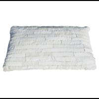Kussen huid reepjes 50x30 cm in 3 kleuren.