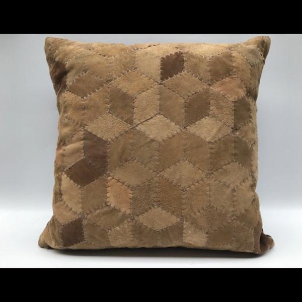 Kussen suède geometrisch 50x50cm