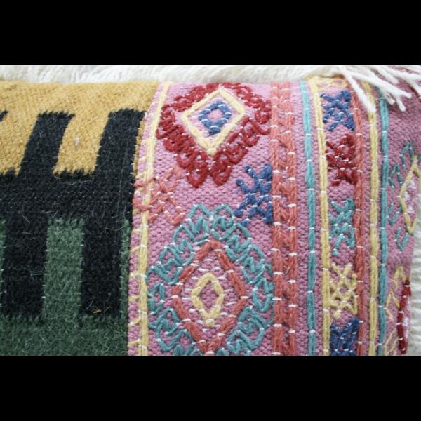 Kussen Macrame Wol Katoen Kleurrijk 50x50cm