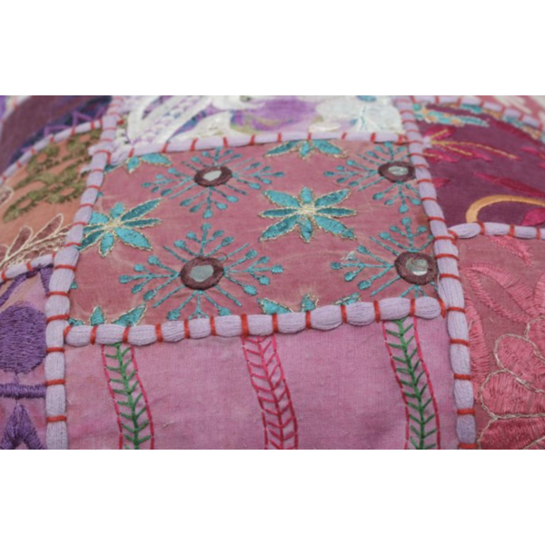 Kussen India Patchwork 30x30cm in 6 kleuren.
