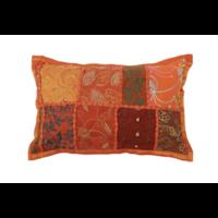 Kussen India Patchwork 30x20cm in 8 kleuren.