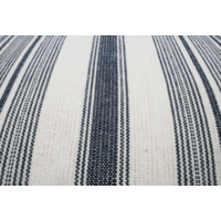 Kussen Streep Blauw/Ecru 50x50cm