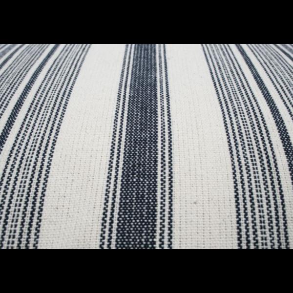 Kussen Kleine Streep Blauw/Wit 50x30cm
