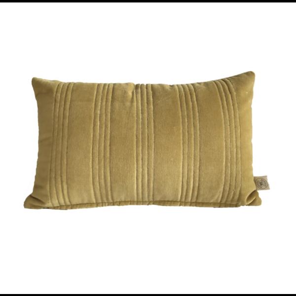 Kussen Velours met Gouden stiksel 50x30cm in 4 kleuren