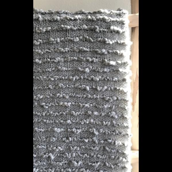 Plaid acryl met relief in twee kleuren