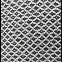 Plaid Patroon zwart/wit franje in twee varianten