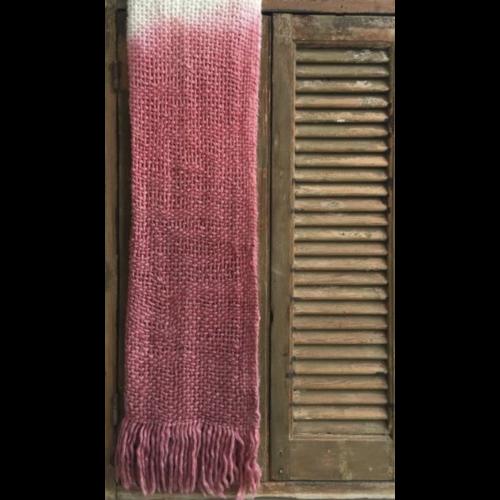 Deken acryl ombre effect in twee kleuren.
