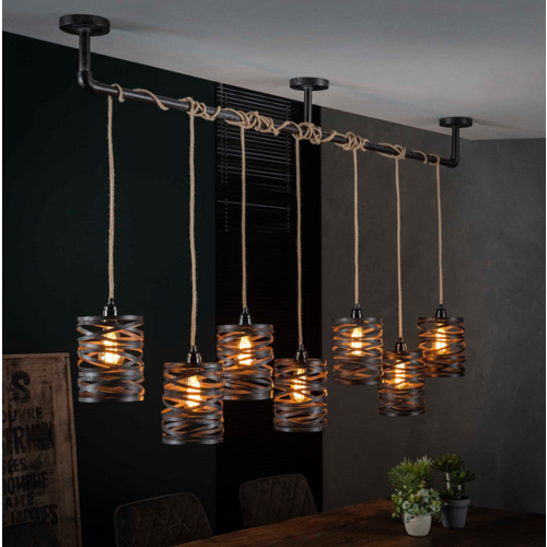 Hanglamp Rojin + 7 led lampen cadeau