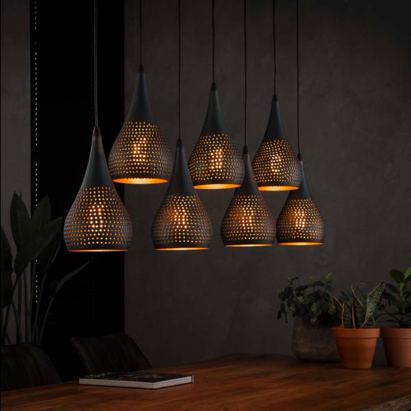 Hanglamp Dan + 7 led lampen cadeau