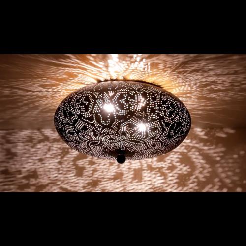 Plafondlamp Ameera Zwart/Goud in 3 maten