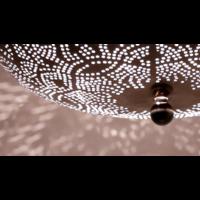 Plafondlamp Ameera Vintage Zilver in 3 maten