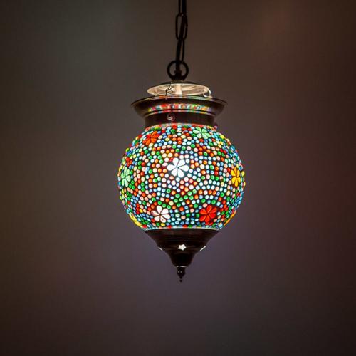 Hanglamp bol Hudat multi colour 15cm