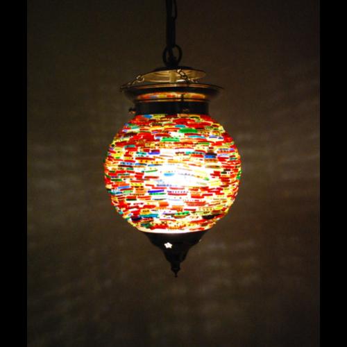 Hanglamp bol Dunia multi colour 15cm
