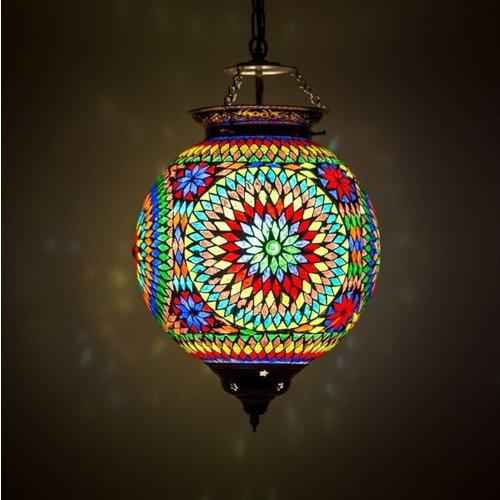 Hanglamp bol Roya multi colour in 3 maten