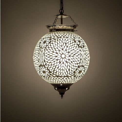 Hanglamp bol Roya transparant in 3 maten