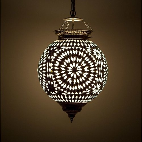 Hanglamp bol Roya zwart-wit in 2 maten