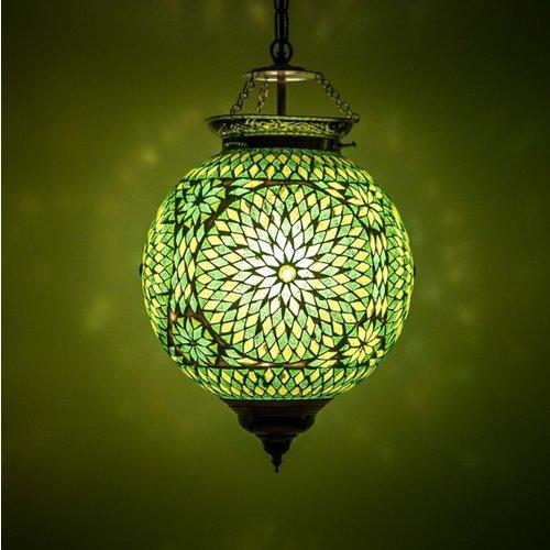 Hanglamp bol Roya groen in 2 maten