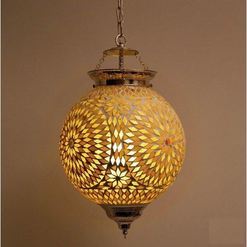 Hanglamp bol Roya bruin/beige in 2 maten
