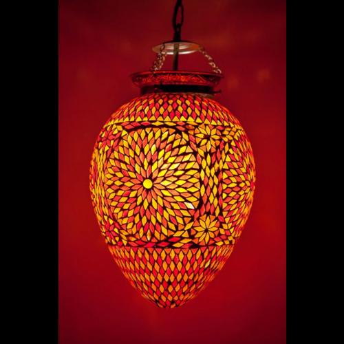 Hanglamp Roya papaya rood/oranje