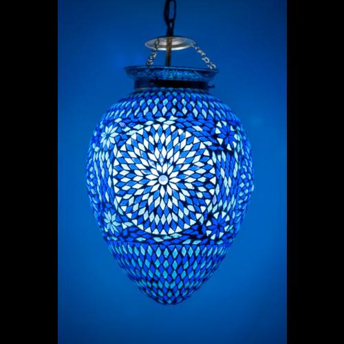 Hanglamp Roya papaya blauw