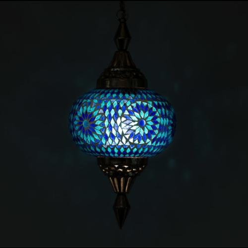 Hanglamp Roya pompoen blauw