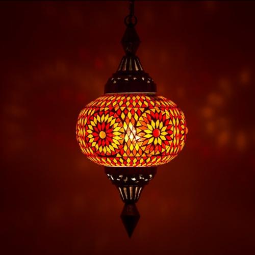 Hanglamp Roya pompoen rood/oranje