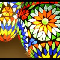 Hanglamp 5 bol Roya Papaya multi colour