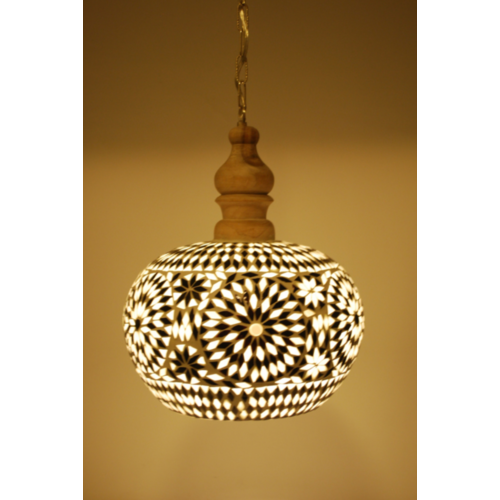 Hanglamp Roya open zwart-wit
