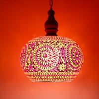 Hanglamp Roya open rood-oranje