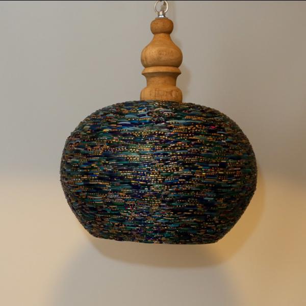 Hanglamp Dunia open blauw