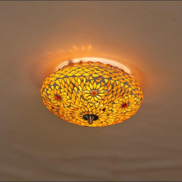 Plafonniere Roya bruin-beige in 2 maten