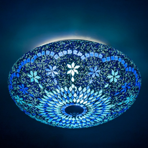 Plafonniere Sabi blauw 38cm