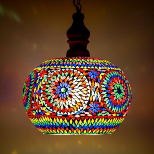 Hanglamp Roya open multi colour