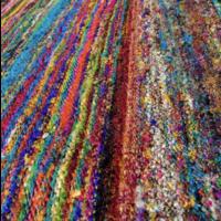 Vloerkleed Recycled Zijde Kleurrijk  SALE