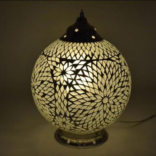 Tafellamp Roya transparant in 2 maten