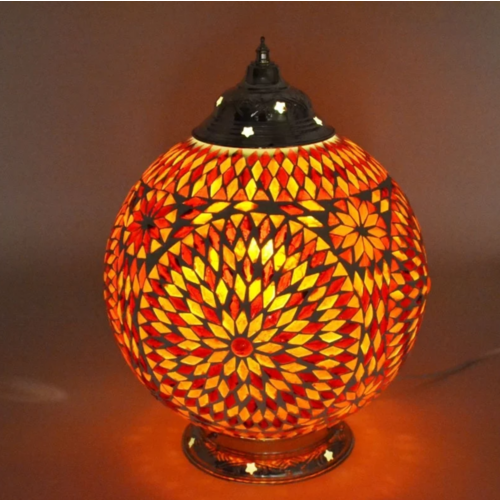 Tafellamp Roya rood-oranje in 2 maten