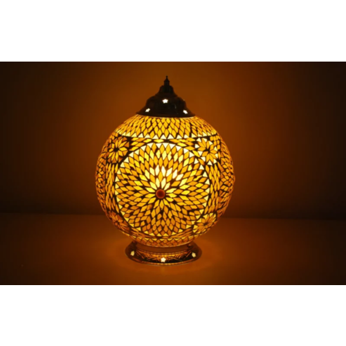 Tafellamp Roya bruin-beige in 2 maten