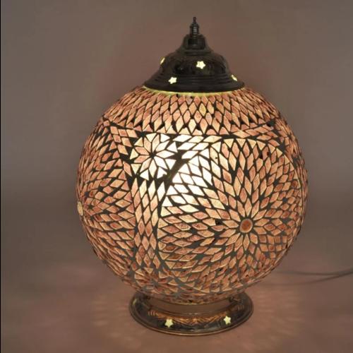 Tafellamp Roya paars in 2 maten