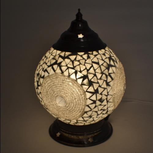 Tafellamp Leila transparant 15cm